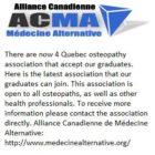 Alliance Canadienne de Mu00E9decine Alternative