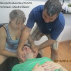 Doctor of Osteopathy students of NUMSS practicing techniques in Madrid