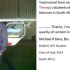 Doctor of Physical Therapy (DPT) Student of National University of Medical Sciences - physiotherapist Michael Dare from South Africa