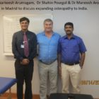 Dr Narkeesh Arumugam - Dr Shahin Pourgol and Dr Maneesh Arora met in Madrid to discuss expanding osteopathy to India