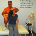 Dr Pourgol teaching osteopathic facilitated positional release technqiue