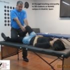 Dr Pourgol teaching osteopathy in Spain - 2014