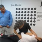Dr Pourgol teaching osteopathy in Spain - August 2014