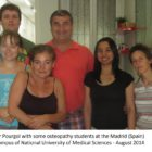 Dr Pourgol with NUMSS students in Madrid