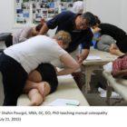 Dr Shahin Pourgol, MBA, DC, DO, PhD teaching manual osteopathy