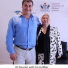Dr Shahin Pourgol with his mother after the NUMSS seminar - May 24- 2014