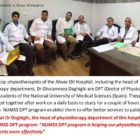 NUMSS DPT Students in Ahvaz Hospital
