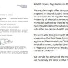 NUMSS Spain registration document