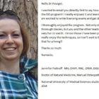 NUMSS Student Jennifer Pottruff