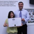 National University of Medical Sciences graduate (2014) of the Bachelor Science in Osteopathy program