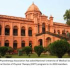 National University of Medical Sciences offers tDPT in Bangladesh