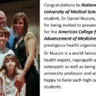 National University of Medical Sciences student Dr Daniel Nuzum Gives Seminar to American College for Advancement of Medicine
