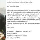 National University of Medical Sciences student testimonial from Saudi Arabia