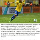 National University of Medical Student student of Doctor of Osteopathy program joins Brazilian National Football team