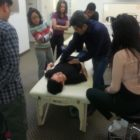 Professor Amir Ghafari teaching osteopathic visceral manipulation2