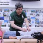 Professor Amir Ghafari teaching osteopathic visceral techniques