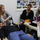 Professor Pamela Crosson-Fournier teaching cranial osteopathy - 2017